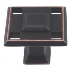 "Modern Craftsman Square Cabinet Knob (1-5/16"") - Venetian Bronze (4007-VB) by Atlas Homewares"