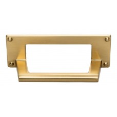 "Bradbury Cup Bin Pull (3"" CTC) - Warm Brass (A301-WB) by Atlas Homewares"