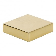 "Thin Square Cabinet Knob (1-1/4"") - French Gold (A833-FG) by Atlas Homewares"