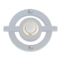 Avalon Door Bell Button - Brushed Nickel (DB643-BRN) by Atlas Homewares