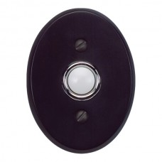 Traditionalist Door Bell Button - Matte Black (DB646-BL) by Atlas Homewares