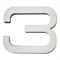 Paragon #3 House Number - Stainless Steel (PGN3-SS) by Atlas Homewares