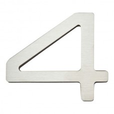 Paragon #4 House Number - Stainless Steel (PGN4-SS) by Atlas Homewares