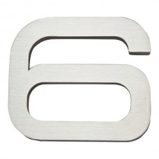 Paragon #6 House Number - Stainless Steel (PGN6-SS) by Atlas Homewares