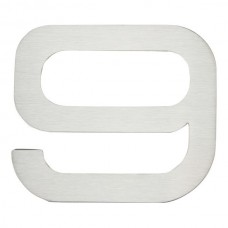 Paragon #9 House Number - Stainless Steel (PGN9-SS) by Atlas Homewares