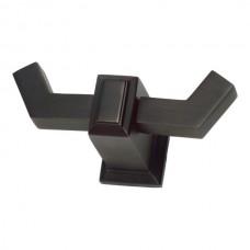 Sutton Place Double Hook Bath Hardware - Venetian Bronze (SUTTH-VB) by Atlas Homewares