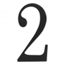 Traditionalist #2 House Number - Matte Black (TRN2-BL) by Atlas Homewares