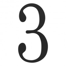 Traditionalist #3 House Number - Matte Black (TRN3-BL) by Atlas Homewares