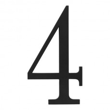 Traditionalist #4 House Number - Matte Black (TRN4-BL) by Atlas Homewares