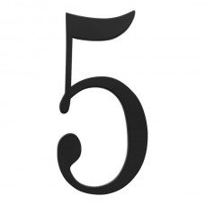 Traditionalist #5 House Number - Matte Black (TRN5-BL) by Atlas Homewares