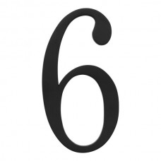 Traditionalist #6 House Number - Matte Black (TRN6-BL) by Atlas Homewares