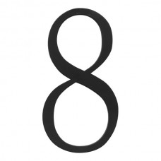 Traditionalist #8 House Number - Matte Black (TRN8-BL) by Atlas Homewares