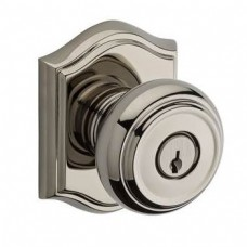 Traditional Keyed Door Knob Set w/ Traditional Arch Rosette (TRA) by Baldwin Reserve