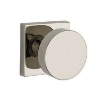 Contemporary Door Knob Set w/ Contemporary Square Rosette (CON) by Baldwin Reserve