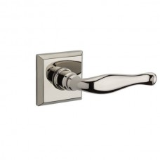 Traditional Decorative Door Lever Set w/ Traditional Square Rosette (DEC) by Baldwin Reserve