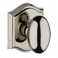 Traditional Ellipse Door Knob Set w/ Traditional Arch Rosette (ELL) by Baldwin Reserve