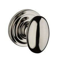 Traditional Ellipse Door Knob Set w/ Traditional Round Rosette (ELL) by Baldwin Reserve