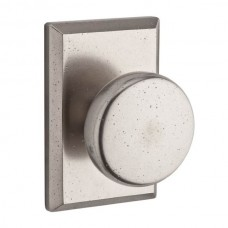 Rustic Door Knob Set w/ Rustic Square Rosette (RUS) by Baldwin Reserve