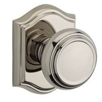 Traditional Door Knob Set w/ Traditional Arch Rosette (TRA) by Baldwin Reserve