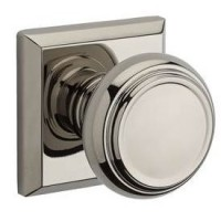 Traditional Door Knob Set w/ Traditional Square Rosette (TRA) by Baldwin Reserve