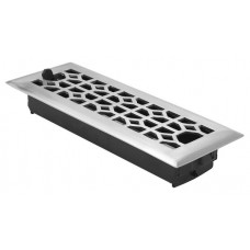 Classic Floor Vent Register w/ Damper (Various Finishes - Various Sizes) by Brass Accents