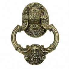 Neptune Door Knocker (A04-K5060) in Various Finishes by Brass Accents