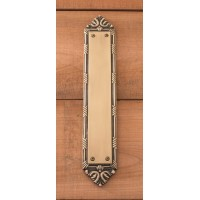 Ribbon & Reed Push Plate (A05-P7230) by Brass Accents