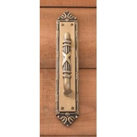 Ribbon & Reed Pull & Plate (A05-P7231) by Brass Accents
