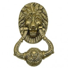 Lion Door Knocker (A07-K5000) in Various Finishes by Brass Accents