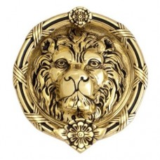 Leo Lion Door Knocker (A07-K5100) in Various Finishes by Brass Accents