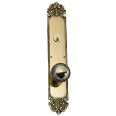Fleur De Lis Keyed Tubular Plate Entry Set (D04-K322) by Brass Accents