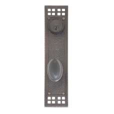 Arts & Crafts Keyed Tubular Plate Entry Set (D05-K535) by Brass Accents