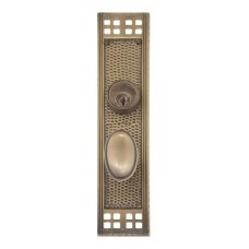 Arts & Crafts Keyed Mortise Plate Entry Set (D05-K535) by Brass Accents