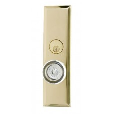 Quaker Keyed Mortise Plate Entry Set (D07-K540) by Brass Accents