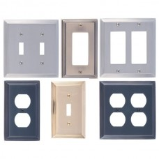 Classic Steps Switch Plates (Various Finishes - Various Layouts) by Brass Accents