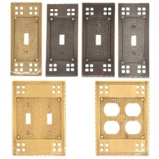 Arts & Crafts Switch Plates (Various Finishes - Various Layouts) by Brass Accents
