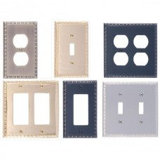 Egg & Dart Switch Plates (Various Finishes - Various Layouts) by Brass Accents