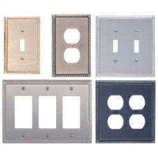 Georgian Switch Plates (Various Finishes - Various Layouts) by Brass Accents