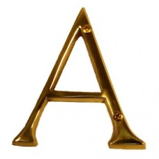 "Traditional 4"" Letter A House Number (I07-L91A0) in Various Finishes by Brass Accents"