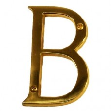 "Traditional 4"" Letter B House Number (I07-L91B0) in Various Finishes by Brass Accents"