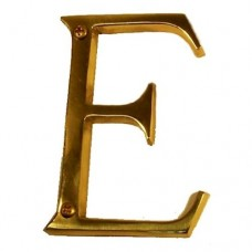 "Traditional 4"" Letter E House Number (I07-L91E0) in Various Finishes by Brass Accents"
