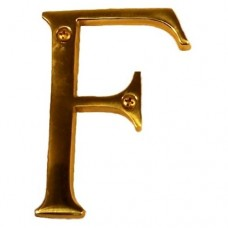 "Traditional 4"" Letter F House Number (I07-L91F0) in Various Finishes by Brass Accents"