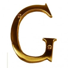 "Traditional 4"" Letter G House Number (I07-L91G0) in Various Finishes by Brass Accents"