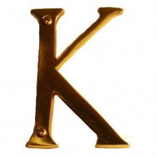 "Traditional 4"" Letter K House Number (I07-L91K0) in Various Finishes by Brass Accents"