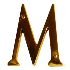 "Traditional 4"" Letter M House Number (I07-L91M0) in Various Finishes by Brass Accents"