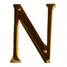 "Traditional 4"" Letter N House Number (I07-L91N0) in Various Finishes by Brass Accents"