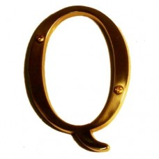 "Traditional 4"" Letter Q House Number (I07-L91Q0) in Various Finishes by Brass Accents"