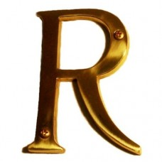"Traditional 4"" Letter R House Number (I07-L91R0) in Various Finishes by Brass Accents"