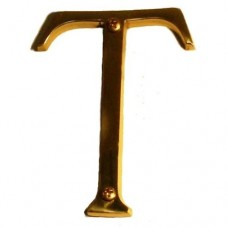 "Traditional 4"" Letter T House Number (I07-L91T0) in Various Finishes by Brass Accents"