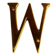 "Traditional 4"" Letter W House Number (I07-L91W0) in Various Finishes by Brass Accents"